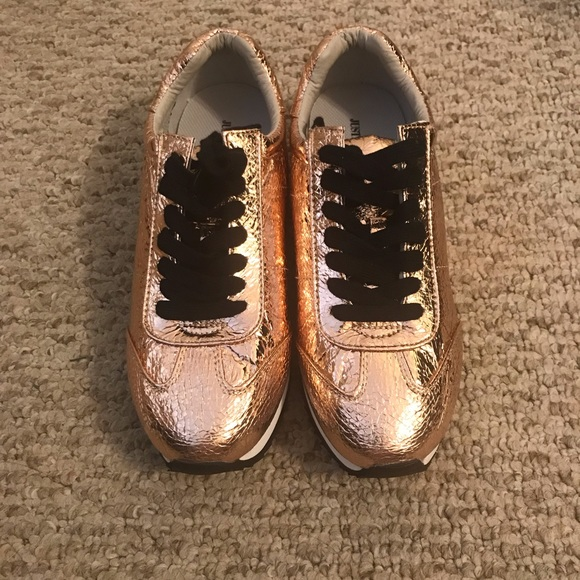 JustFab Shoes - New Justfab Rose Gold sneaker size 9.5